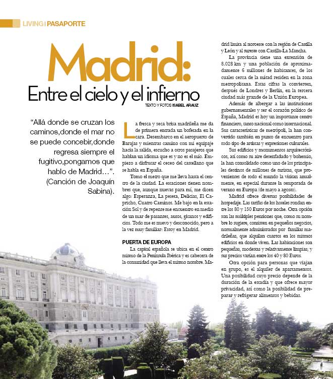 Perfil-Magazin: Madrid